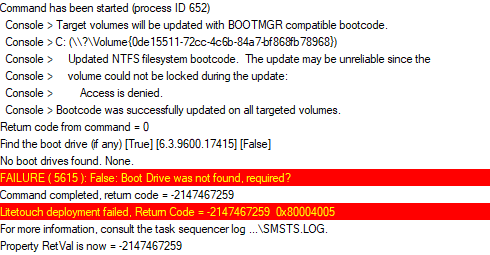 Understanding FAILURE (5615): Boot Drive not Found - Vacuum